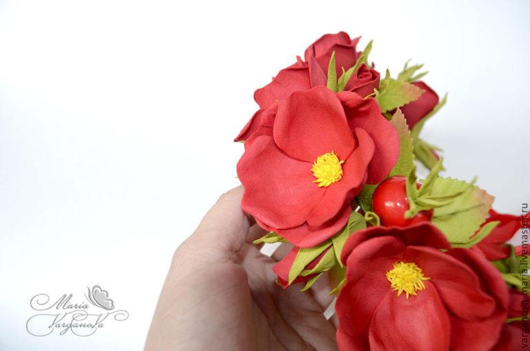 Большой цветок из фоамирана - YouTube